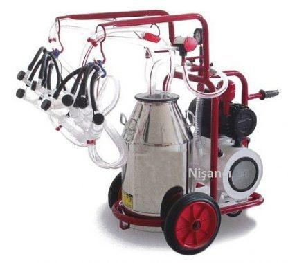 4 Keçi Sağım Kapasiteli Krom Çelik Keçi Sağım Makinesi