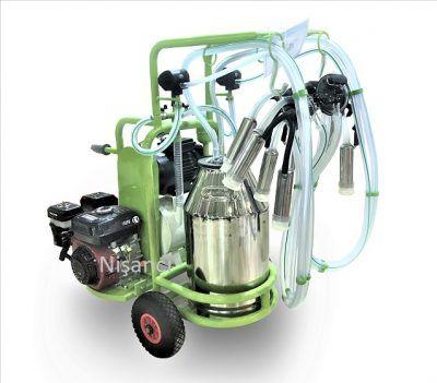 4 Sağımlık Benzinli ve Elektrikli Keçi Sağım Makinesi