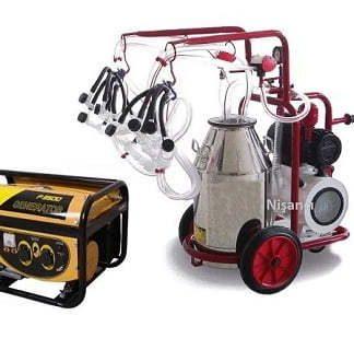 4 Keçi Sağma Krom Çelik Güğüm Jeneratörlü Keçi Sağma Makinesi