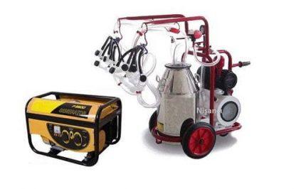 4 Koyun Sağma Krom Çelik Güğüm Jeneratörlü Koyun Sağma Makinesi