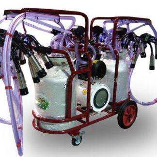 4 Lü 80 Litre Alüminyum İnek Sağma Makinesi