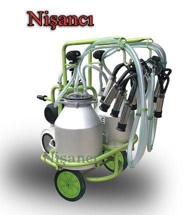4 Sağım Kapasiteli Çift Güğüm Alüminyum Koyun Sağım Makinesi