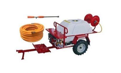 400 L Sarıcılı Benzinli Römorklu İlaçlama Pompası Makinesi