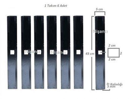 Benzinli Ayaklı Yem Kırma Makinası Bıçağı Takım 6 Adet