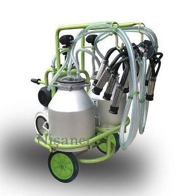 Çift Güğüm Alüminyum İnek Süt Sağma Makinası