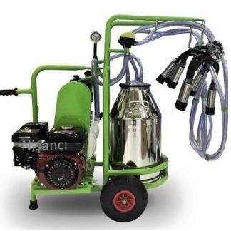 Çift Sağma Krom Benzinli Elektrikli İnek Sağma Makinası