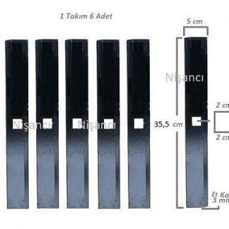 Tekerlekli Arpa Kırma Makinesi Bıçağı Takım 6 Adet