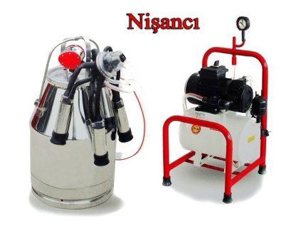 Yarı Sabit Krom, Çelik Güğüm İnek Süt Sağma Makinesi